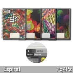 Cuaderno Espiral 4 Materias