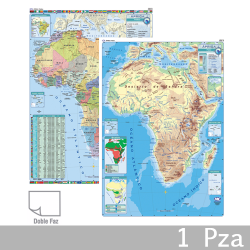 Mapa Doble-Faz Fisico Politico